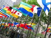 Flags Outside Rockefeller Center