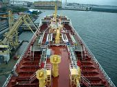 Deck View Of Small Tanker