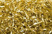 Golden Shredded Foil Background
