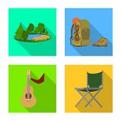 Isolated Object Of Tourism And Excursions Logo. Collection Of Tourism And Rest Stock Symbol For Web. poster