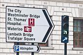 Streetsign en Londres, Inglaterra