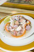 Salpicon De marisco Mariscos espanhol salada San Luis Ilha San Andres-Colômbia