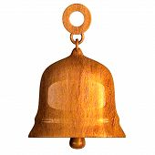 pic of orthogonal  - bell in wood orthogonal view  - JPG