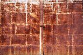 Old Rusted Locked Door