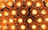 Flower Shaped Glass Lamp. Led Light Bulb Decorative With Flower Shaped Glass. Decorative Light In Cl poster