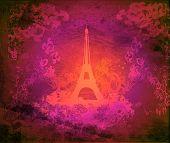 复古怀旧埃菲尔在巴黎卡,栅格