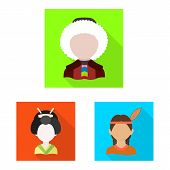 Vector Design Of Nation And Race Sign. Collection Of Nation And User Vector Icon For Stock. poster