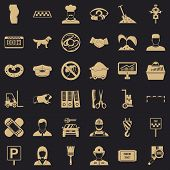 Favorite Profession Icons Set. Simple Style Of 36 Favorite Profession Icons For Web For Any Design poster