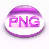 image of png  - 3D Style file format icon over white background  - JPG