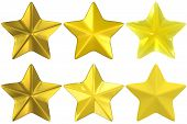 Star Shape Gold Yellow Glass Metal Clay