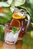 Iced Tea In Pitcher