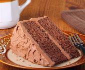 Piece Of Chocolate Layer Cake