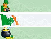 banners voor St. Patrick's Day