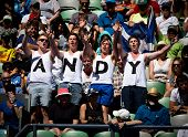 MELBOURNE - JANUARY 17: Andy Murray fans at the 2013 Australian Open on January 17, 2013 in Melbourn