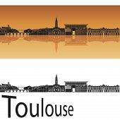 Toulouse Skyline In Orange Background