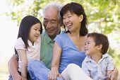 Grandparents Laughing With Grandchildren.