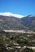 White village in Sierra Nevada, Orgiva, Spain.