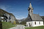 Austria / Salzkammergut / Little Church In Mountainside