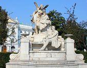 Ferdinand Raimund monument in Vienna, Austria