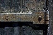 Edad del hierro tornillo de fijación de Metal y madera