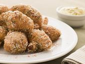 Ham And Cheese Beignets With Dijonnaise