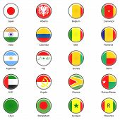 Vector World Flag Buttons - Pack 2 of 8