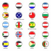 Vector World Flag Buttons - Pack 6 of 8