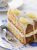 Slice Of Lemon Drizzle Cake