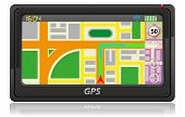 foto of cartographer  - gps navigator vector illustration isolated on white background - JPG