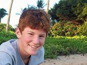 Happy Teen Boy Color
