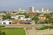 pic of bolivar  - Cartagena or Cartagena de Indias is a large Caribbean beach resort city on the northern coast of Colombia in the Caribbean Coast Region and capital of Bolivar Department - JPG