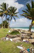 Sallie Peachie Beach Litter Malecon North End Corn Island Nicaragua