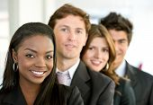 pic of latin people  - group of business people smiling in an office - JPG