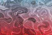 Alien beruhigende flüssiges Metall Wasser