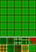 Tartan, plaid seamless 10 patterns.
