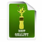 Sticker with a bottle of oil olive