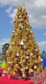 Árvore de Natal decorada.