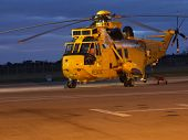 A Raf Seaking Search And Rescue Helicopter