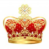 Royal Gold Crown With Jewels And Ornament