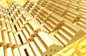 foto of gold mine  - gold bars 3d - JPG