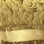 Gold Vintage Floral Frame