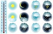 Vector Weather Icons poster