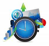 Time For Business Concept Illustration