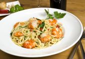 Spaghetti Scampi Meal poster