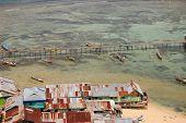 Fishing Boats At Village Timber Pier