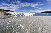 The Eqi Glacier in Greenland