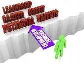 Personal development is the bridge to successful life. Concept 3D illustration.