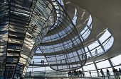 Mirrored Coner And Achitectural Details Of Reichstag Dome