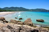 People Enjoying Lopes Mendes Beach, Rio, Brazil. South America.