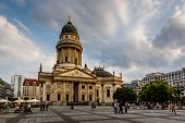 German Cathedral On Gendarmenmarkt Square In Berlin, Germany